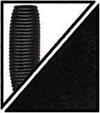 レッグワームのブラックソリッド